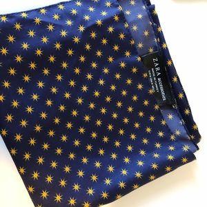 Zara Accessories - Zara gold yellow square silk scarf
